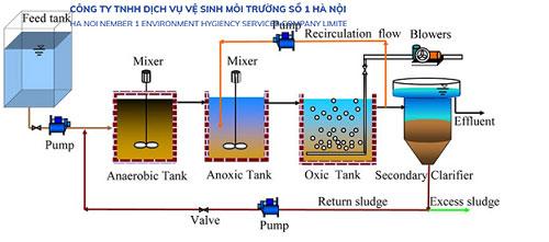 Nguyên lý hoạt động của bể Anoxic