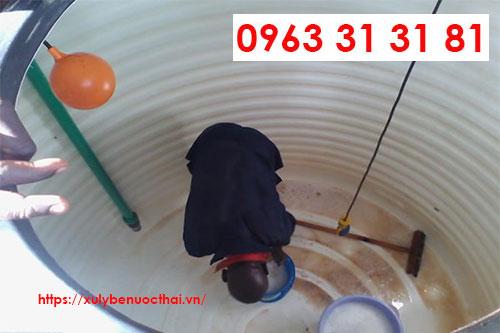 Thau rửa bể nước sạch
