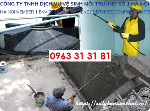Dịch vụ thau rửa bể nước gia đình tại Hà Nội