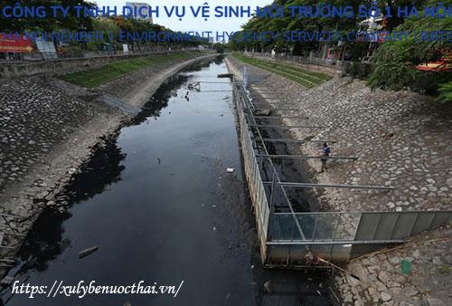 nước sông tô lịch bị ô nhiễm