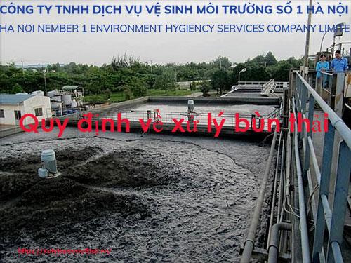 Nghị định 155/2016/NĐ-CP về thu gom, phân loại, vận chuyển & xử lý bùn thải