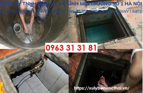 thau rửa bể nước tại hà đông