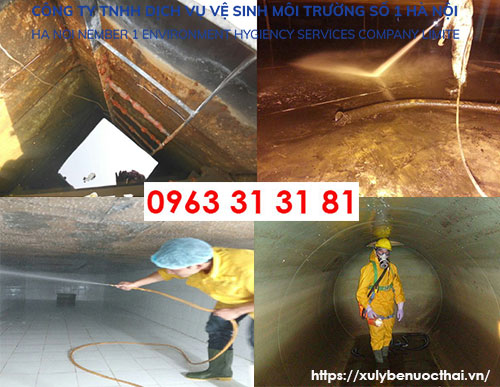 thau rửa bể nước tại Hoàn Kiếm