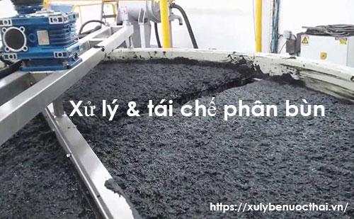 xử lý và tái chế phân bùn
