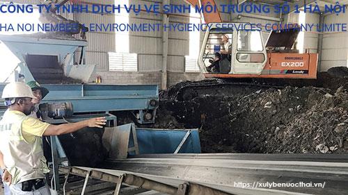 xử lý bùn thải chưa hợp lý