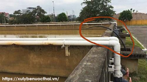Nhà máy nước Gia Lâm xả bùn thải ra môi trường
